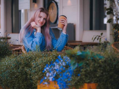 Фотосет в городском кафе